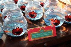 Throw a fun Elmo Birthday Party with these Elmo Party Ideas. Get creative ideas for Elmo party decorations, supplies, cakes, food, games and more! Elmo First Birthday, 3rd Birthday Parties, Birthday Fun, Birthday Ideas, Frozen Birthday, Birthday Party Favors, Elmo Party Favors, Elmo Party Decorations, Elmo Centerpieces