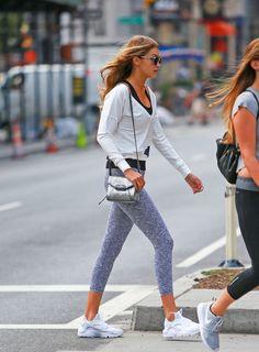 Gigi Hadid Workout Glam