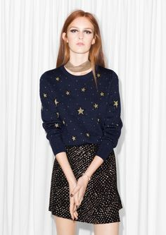 & Other Stories   Night Sky Jacquard Sweater €75