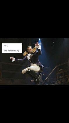 "Hamilton- Lafayette: ""tis I, t""he Frenchiest fry! Hamilton Musical, Theatre Nerds, Musical Theatre, Theater, Alexander Hamilton, Daveed Diggs, Hamilton Lin Manuel Miranda, Hamilton Fanart, Plus Tv"