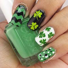 nailsbyalexiz st patrick's day #nail #nails #nailart
