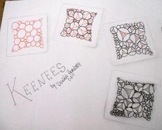 Keenees ~ original tangle pattern by Donna Hornsby, Certified Zentangle Teacher