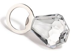 Giant Diamond Ring Bottle Opener. the perfect stocking stuffer! I could pin just about everything from Glamour Mag's gift guide