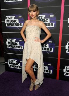 The CMT Music Awards 2013 Red Carpet.  Taylor Swift in Elie Saab.