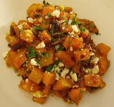 Maple & browned butter squash with pecand and blue cheese - that combination sounds delicious to me!