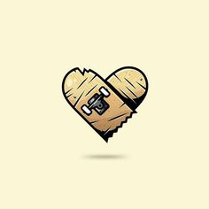 Skateboard Heart lllustration concept @andrewmadness