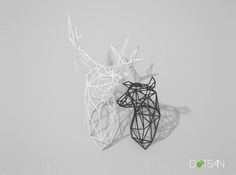 Doe Large Facing Right 3d printed, interior design, wall art, home decoration.