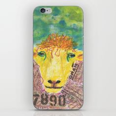 Worldy Sheep iPhone Skin by catherinepoet Iphone Skins, Iphone Cases, Sheep, Iphone Case, I Phone Cases