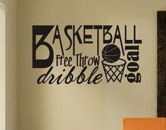 Baloncesto palabra Collage cotización de por WallsThatTalk en Etsy