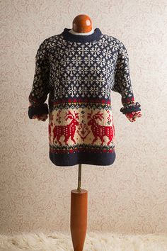 1990's Fair Isle Sweater, Eddie Bauer.  Fabulous Condition. Etsy.