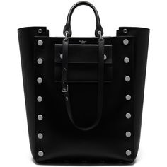 Mulberry Oversized Maple with Studs ($1,825) ❤ liked on Polyvore featuring bags, handbags, black, studded purse, evening purses, handbags totes, pocket purse and oversized tote