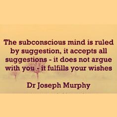 Our #subconscious #mind controls over 90% of our life. It is programmed by what…