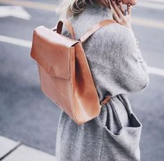 leather messenger backpack