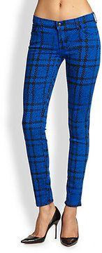 7 For All Mankind Plaid Skinny Jean on shopstyle.com