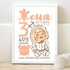 Детские метрики & постеры достижений