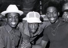 DJ Tony Tone, LA Sunshine and Grandmaster Caz 1981 repin by dJ oGc