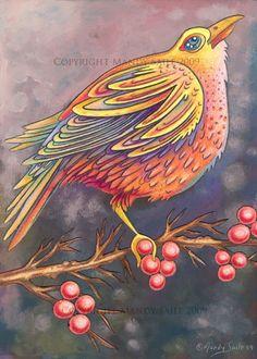 Beautiful Bird 3 BIRD ART PRINT 8 x 10 by Mandy by BijousWhimsy
