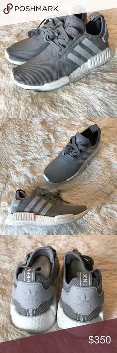 Adidas NMD R1 ✨ Grey Youth Size 7 (this colorway runs true to size - will also fit Men's 7 or Women's 9.)  100% authentic! Comes with original box.   ✅ Bundle to save on shipping costs! ♏️ Lower prices on Merc! Find my page by searching for @heather_lynn.  ❌ Price is FIRM! ❌ NO TRADES! ❌ Lowball offers will be ignored and deleted.  Closet Tags: VS, Victoria's Secret, Sport, PINK, Nike, Follow Me, Follow Game Adidas Shoes Sneakers