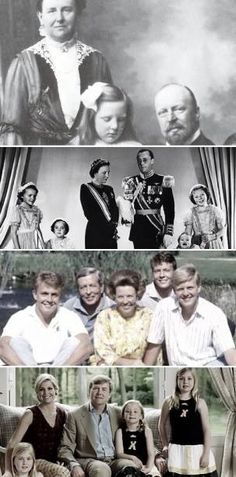 Dutch royal family through the years-top: Queen Wilhelmina, Crown Princess…