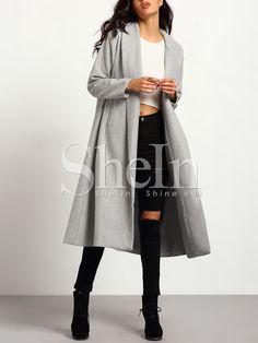Серое крупногабаритное пальто  3298
