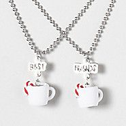 Hot Cocoa Best Friends Necklaces :) We need to get 2 sets for all 3 of us, lol :D We love our pepermint hot cocoa!