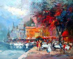 At the Mediterranean by Willem Haenraets.  2013.  Acrylic on canvas.