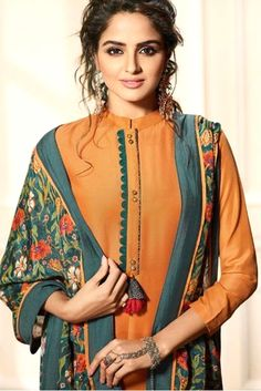 Wholesale Designer Maslin Silk Straight Salwar SuiStitched In Free Size. Neck Designs For Suits, Neckline Designs, Sleeves Designs For Dresses, Dress Neck Designs, Stylish Dress Designs, Stylish Dresses, Blouse Designs, Kurti Sleeves Design, Kurta Neck Design