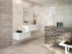 Mix and match tiles from the Vienna range to add interest in large bathrooms or wetrooms #TileTuesday