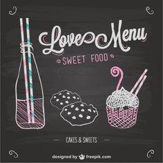 Liefde menu bord sjabloon