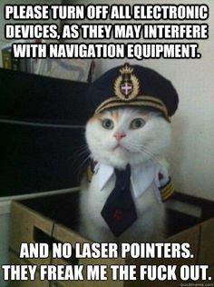 Laser pointers.