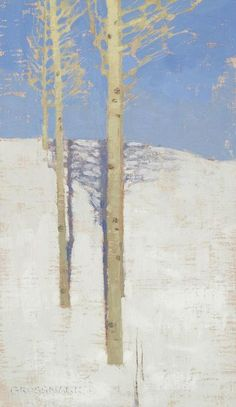 Image of David Grossmann - -Trees and Shadows on Bright Snow-