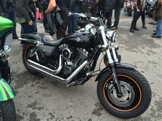 Cool fat Bob ace cafe Harley day