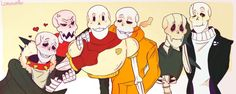 Why is all the Paps fighting over UT Papy XD Undertale Comic, Undertale Fanart, Anime Fnaf, Underswap, Fan Art, Video Game Art, Homestuck, Cute Art, Nerdy