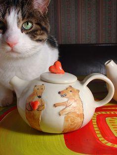 Teapot - Hearts and Bears