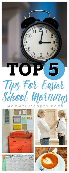 Ready for Back to School? Mornings can be tough when trying to adjust, but if you follow these tips, back to school mornings will be a breeze!