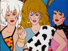 "The Misfits from the 80s tv show ""Jem and the Holograms"""