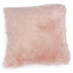 Kissenbezug aus Kunstfell rosa 40 x 40 cm MORGANE