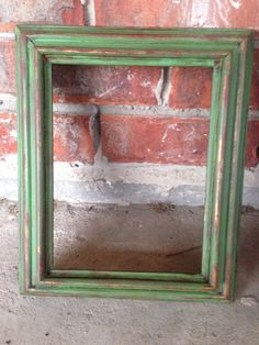 Old wooden frame distressed with Annie by Distress2Perfection, $20.00 Materials: Emperors Silk Chalk Paint color, Antibes Green Chalk Paint Color, Dark and Clear Wax