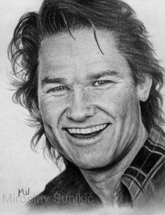 Kurt Russell - Graphite Pencil Portrait by Miroslav Šunjkić The Pencil Maestro #kurt #russell #kurtrussell #portrait #realistic #drawing #art #pencil #artwork #graphite #sketch #pencilmaestro