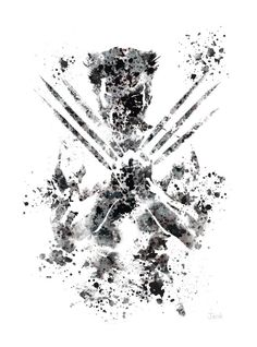 "Wolverine ART PRINT 10 x 8"" illustration, X-Men, Marvel, Home Decor, Wall Art"