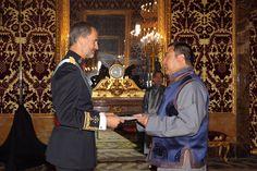 El Rey Felipe VI recibió las cartas credenciales del embajador de Mongolia, Batsaikhan Mundagbaatar.  08-09-2016