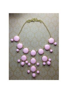 Statement Pastel Pink Bubble Necklace by shopaleksandra on Etsy, $13.95 #obsessed #socute #set #skull #cross #spikes #summer #gold #pretty #infinity #cystal #bow #summer2014 #silver #need #musthave #loveit #girly #badass