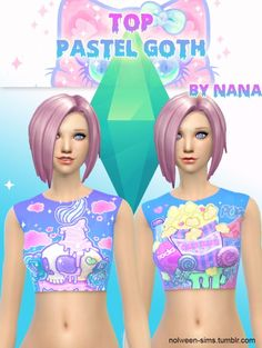 by Nolween - Top Pastel Goth, 6 versions