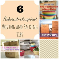 6 Pinterest inspired moving and packing tips! #tips #moving