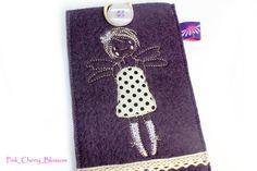 Handytaschen - süße Fee / Elfe Handytasche Filz lila - ein Designerstück von Pink_Cherry_Blossom bei DaWanda