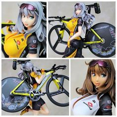 【WF2016Summer】Another cyclist model! #Ruka measures 26 high. The kit also comes with a number of decals for herself and the…