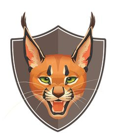 Caracal (Rooikat) Logo Design for BRAVO Beer by Paula Lucas Big Cats Art, Furry Art, Cat Art, Caracal, Lucas Arts, Picture Mix, Cat Reference, Animation, 3d Artist