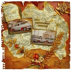 The travelling Showman-torn or cut map shape General Crafts, Travel Scrapbook, Craft Items, Scrapbooking Layouts, Embellishments, Travelling, Shapes, Holiday, Projects