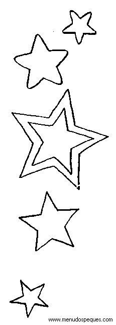Imagenes de estrellas para colorear grandes - Imagui | manualidades ...