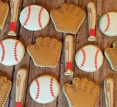 Baseball cookies/sports birthday cookies/party cookies/themed